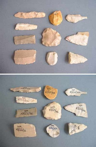 Prehistoric stonetools from the Holy Land