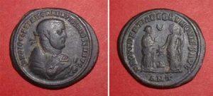 Follis (Diocletian),  Rv: Providentia and Quies