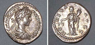 Denarius (Caracalla),  Rv: Moneta