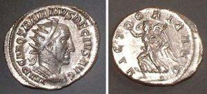 Antoninian (Trajan Decius), Rv: Victoria