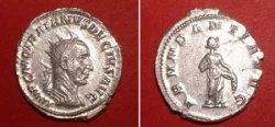 Antoninianus (Tr. Decius,  Rv: Abundantia emptying cornucopiae