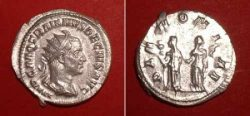 Antoninianus (Trajanus Decius),  Rv: Goddesses Pannoniae